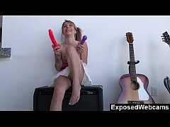 Laney does herself with a dildo