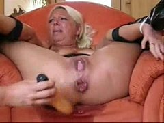Great orgasm of mature tied and anal fucked wit...