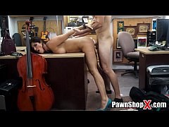 Smoking Hot Latina Amateur Bent Over Table in P...