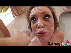 Petite teen Maddy O'Reilly face-fucking