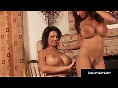 Mature Deauxma & Goldie Blair Compare Boobs & G...
