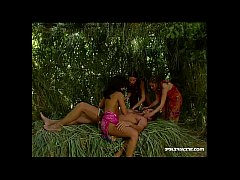 A Tropical Threeway With Three Brunettes Gets H...