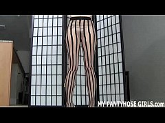 Stroke your cock while I tease you in pantyhose JOI