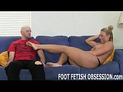 Suck my toes and stroke your hard cock