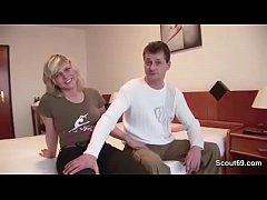 German Mom and Dad Make Porn Casting for Money