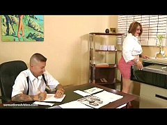 Chubby Secretary Fucks Her Dirty Boss On Desk I...
