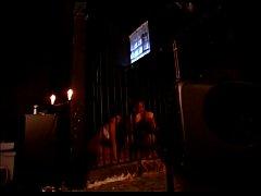 Hot dominatrix tortures her slaves