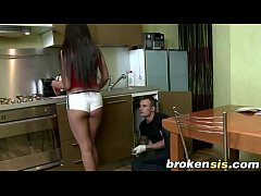 Russian Step Sis Cosette Pussy Filled On Table