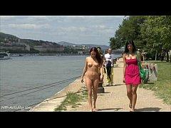 Hot redhead tereza naked on public streets