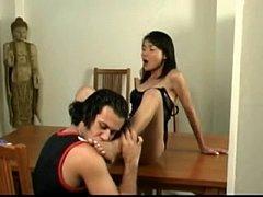Ladyboy fuck on table xh