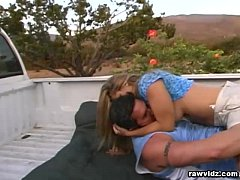 Two guys hiddenly bangs a hot chick at the road side - 1 part 4