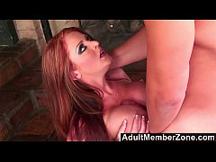 AdultMemberZone - Busty Redhead Shakes her Ass ...