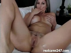 Very hot camgirl masturbating with toy