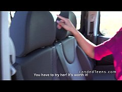 Three teen hitchhikers banging in public