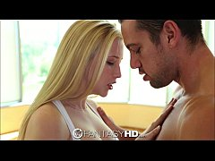 FantasyHD Blonde teen gets workout when she is ...