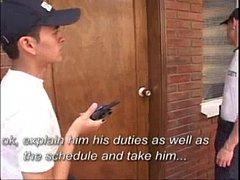 Casal gay trepando no escritório