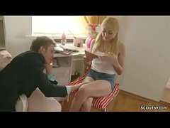He Seduce Petite Step-Sister to Fuck her Anal a...