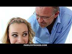 FamilyStrokes - Daddy fucks step daughter every time mommy leaves