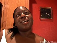 Busty black BBW beauty gets her tits out and ha...