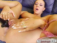 All Internal Shy brunette is fucked and nervous...