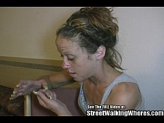 Skank Hooker Pleases Men In Hotel Room