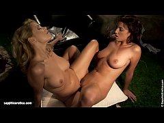 Nightime Toyers sensual lesbian scene by SapphiX