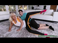 Young dude fucks his horny blonde stepmom after...