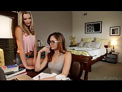 College Lesbians Ariana Marie and Kenna James