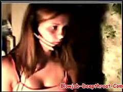 Nice Teen Girl Flashing Her Tits on Webcam - Bl...