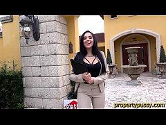Big ass latina real estate agent sucks and bangs her client