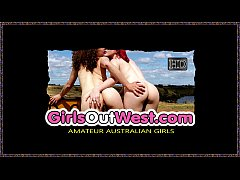 Girls Out West - Young lesbian threesome in the...