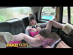 Female Fake Taxi Curvy stunning blonde with big...