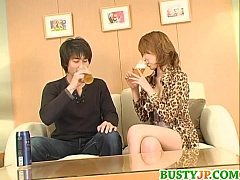 Koharu looks dashing with cock in her