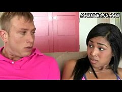 Teen Katt Dylan shares BFs cock with her stepmo...