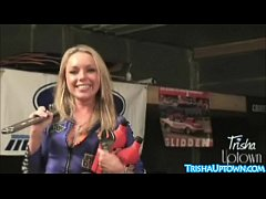 Trisha Uptown Gets Dirty With Big Toys Under Car!