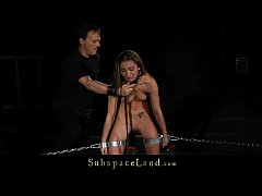 Bondage humiliation for young slave in tears