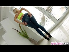 GiveMePink Horny blonde masturbates with lots o...