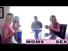 MomsTeachSex - Hot Mom & Teen Friends Orgy Fuck...