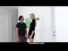 TeenPies- Blonde Teen Gets Fucked and Filled Up