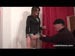 Pretty french brunette sodomized by her bf for ...