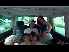Takevan - Mea Melone & Wendy Moon find cute guy...