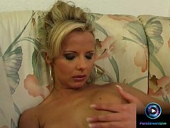 Enticing blonde Danielle loves playing with her...
