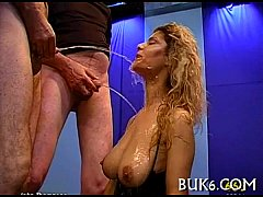 Juicy irrumation with titty fuck