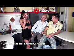 Valentina Canali fucked by two cocks