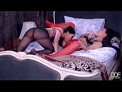 Lesbian leg fetish and stockings party gone wild!