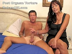 Wife orgasm denied. no hands cum