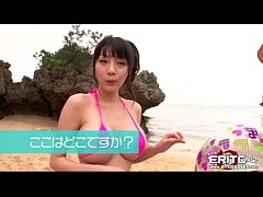 Busty Asian girl went to the beach with her new...