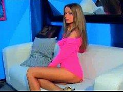 Stunning webcam girl IbizaSunrise playing witho...