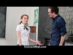 InnocentHigh - Slutty Schoolgirl Seduces Her Te...