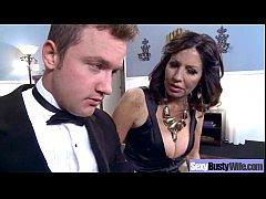 (tara holiday) Horny Busty Wife In Hard Style B...